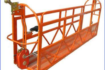 6m 1.5kw 630kg dicat perancah platform kerja aluminium dengan kawat baja 8.3mm