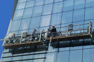 100m - 300m platform akses yang ditangguhkan 220v untuk lukisan gedung bertingkat tinggi