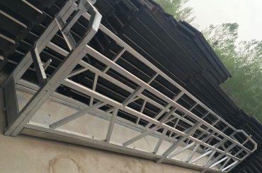 zlp630 / 800 ll membentuk paduan aluminium, konstruksi baja menahan kerja angkat platform pada jendela bangunan