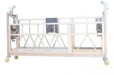 baja dicat / panas galvanis / aluminium zlp630 ditangguhkan platform kerja untuk membangun lukisan fasad