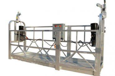 ce / iso-disetujui zlp konstruksi listrik / bangunan / dinding eksternal ditangguhkan platform / cradle / gondola / swing stage / sky climbe