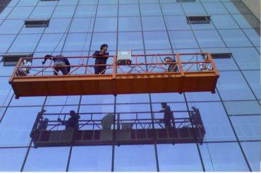 tali konstruksi yang kuat ditangguhkan platform dengan kunci pengaman 30kn zlp1000 2.2kw 2.5m * 3