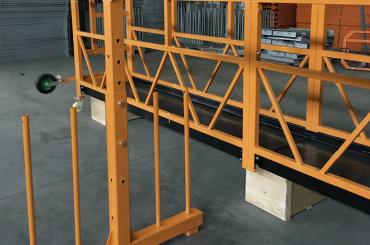 fase tunggal ditangguhkan tali kawat platform 800 kg 1,8 kw, kecepatan angkat 8 -10 m / menit