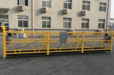 dicat aluminium ditangguhkan tali kawat platform 500kg / 630kg / 800kg / 1000kg