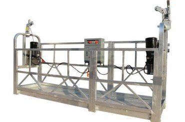 zlp seri hot galvanis / aluminium ditangguhkan platform cradle untuk bangunan tinggi lukisan dinding, pembersih kaca