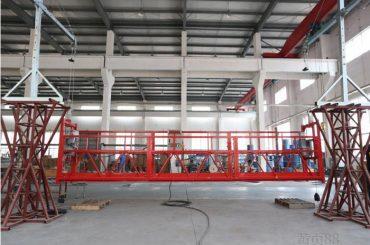 2 * 2.2kw platform akses yang ditangguhkan zlp1000 kecepatan angkat 8 - 10 m / menit